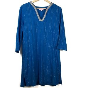 Lilly Pulitzer Cover Up Caftan Tunic Dress Large